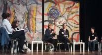 La chancelière Angela Merkel à la rencontre des élèves au Lycée français de Berlin
