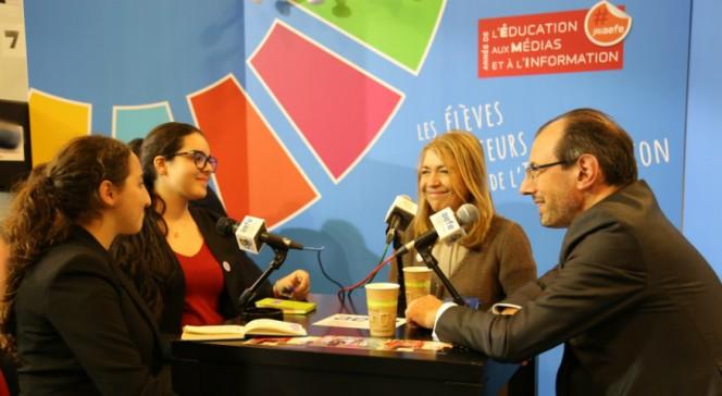 Salon européen de l'éducation novembre 2016 : interview dans le studio radio