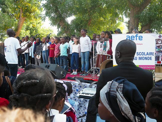 40 ans du lycée français Montaigne au Tchad : les hymnes tchadiens et français