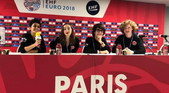 EHF 2018 : l'équipe des JRI du Lycée français de Madrid