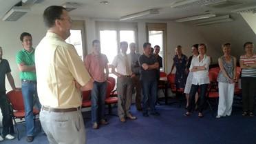 Pascal Meyer avec des collègues de l'AEFE