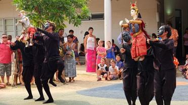Spectacle traditionnel de marionnettes thaïes.