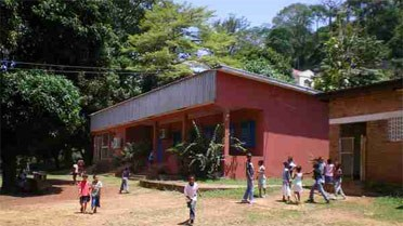 Le lycée français Charles-de-Gaulle, à Bangui, République centrafricaine.