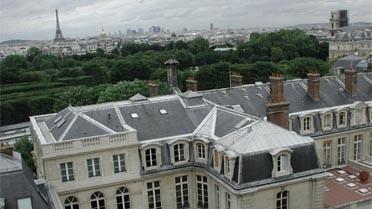 Les toits de l'École des Mines à Paris