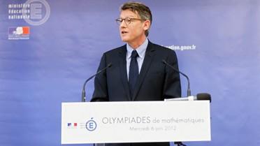 Le ministre de l'Éducation nationale Vincent Peillon