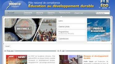 Page d'accueil du site du pôle national EDD
