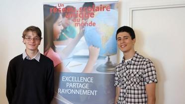 Tanguy et Yanis, les deux élèves du réseau présents à Paris