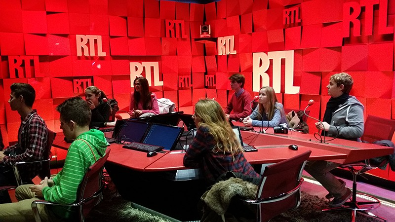 Visite des studios de RTL