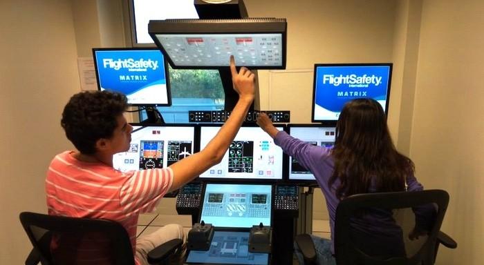 Découverte d'un simulateur de vol
