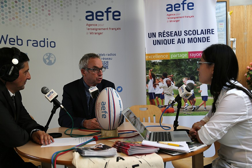 Le directeur adjoint de l'AEFE à la Web radio