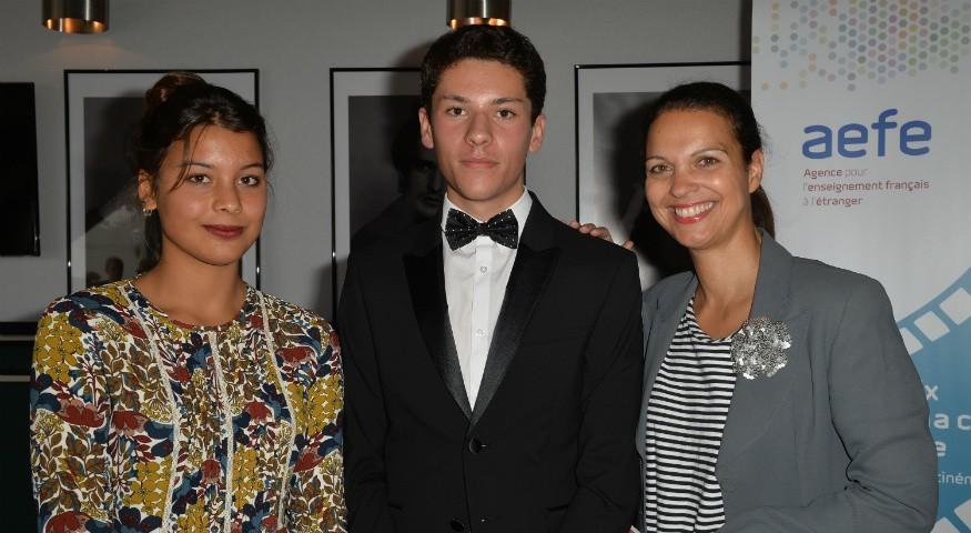 Les lauréats et Isabelle Giordano