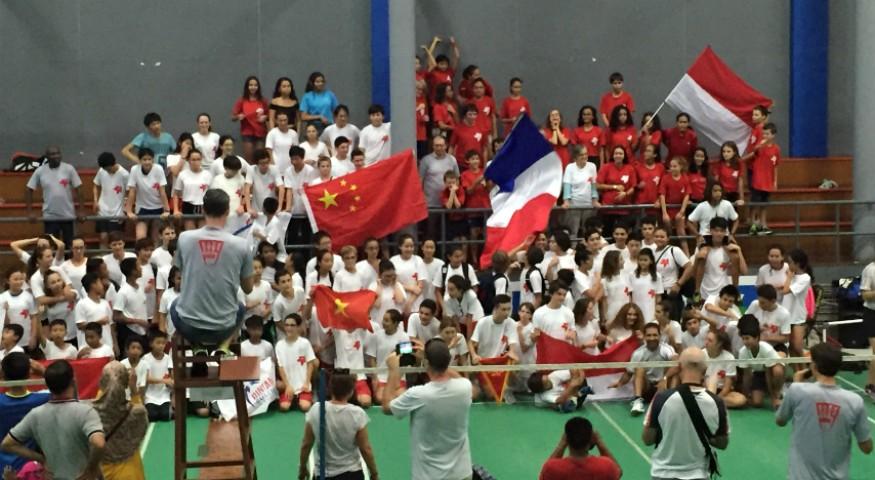Championnat de badminton à Jakarta