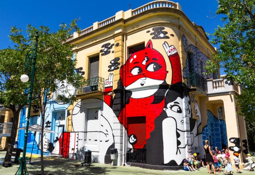 Une œuvre éphémère à Barcelone