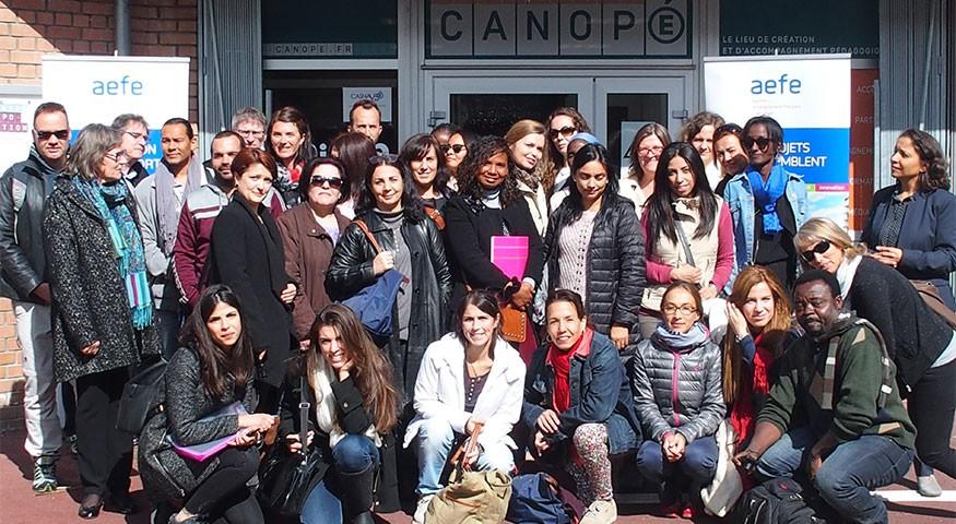 Photo de groupe à Amiens le 28 mars