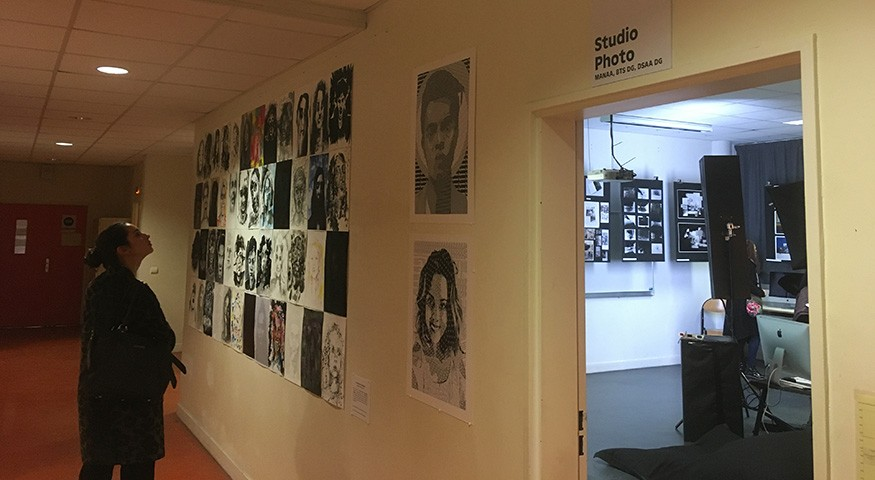 Exposition de travaux d'élèves