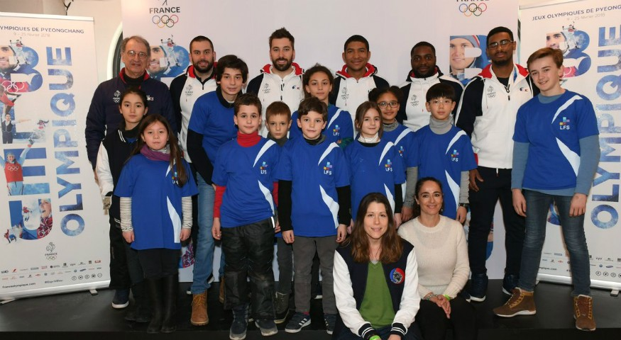 Avec l'équipe de France de bobsleigh