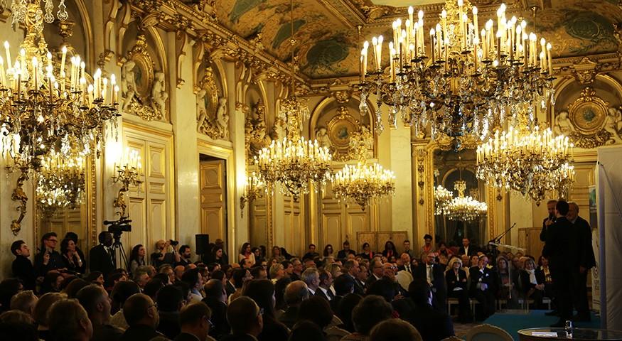 Le cadre de la cérémonie au Quai d'Orsay