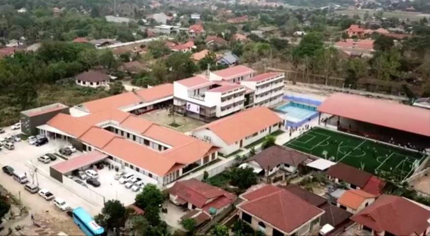 Vue aérienne du nouveau site de Vientiane