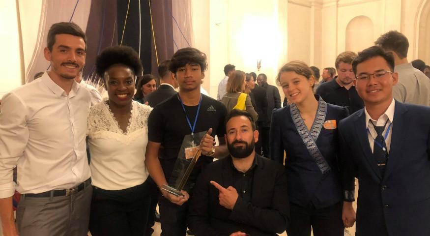 Avec Michaël Jeremiasz et Gévrise Émane