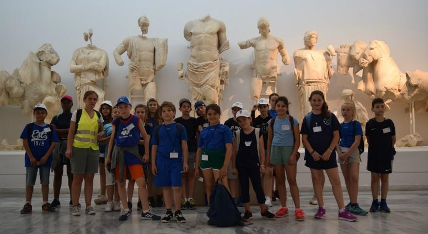Visite du musée d'Olympie