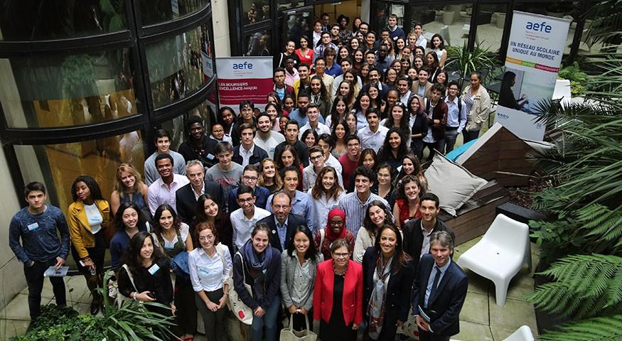 Photo de groupe des lauréats à Paris