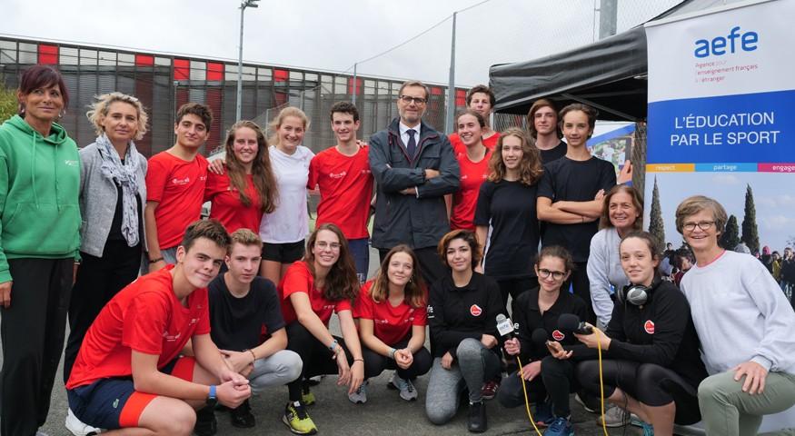 Les délégations des lycées français de Bruxelles et Lisbonne