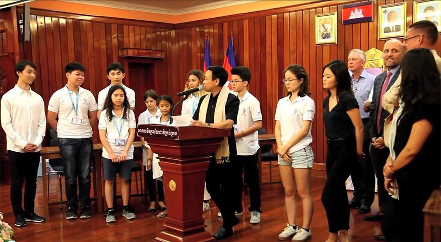 Proclamation des résultats au Cambodge