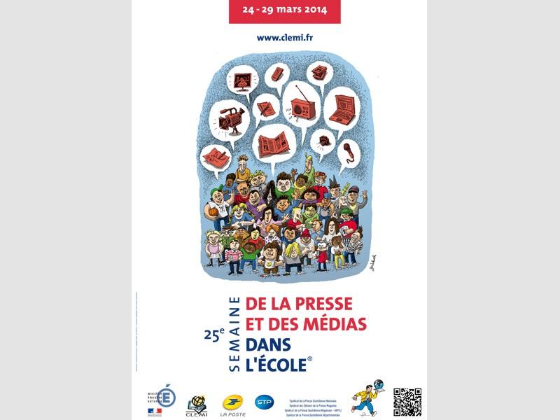 Affiche de la 25e Semaine de la presse