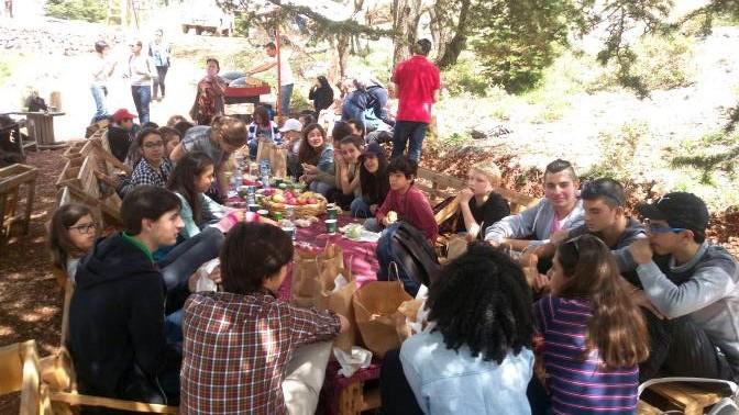 Moment de convivialité au Liban