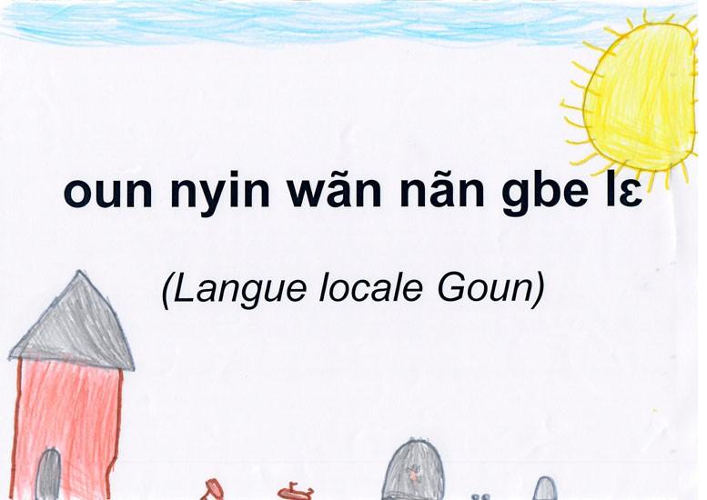 """""""J'aime les langues"""" en langue goun"""