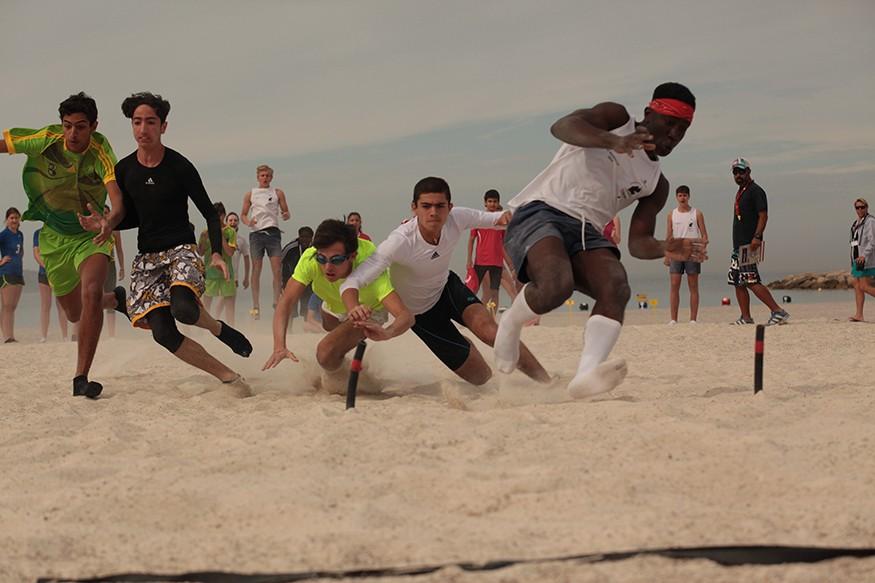 "Compétition de ""Beach Flag"""