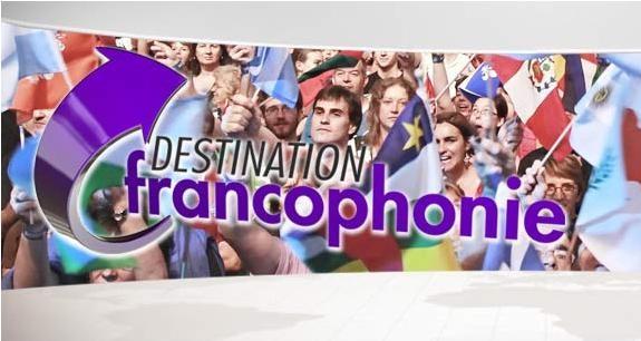 """Logo de l'émission """"Destination Francophonie"""" de TV5MONDE"""