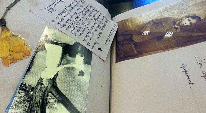 Pages du carnet des élèves de Copenhague