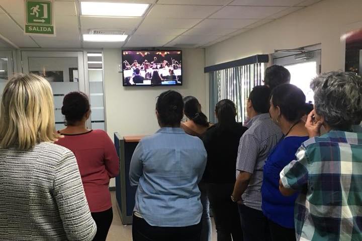 Le concert suivi en direct à San Salvador
