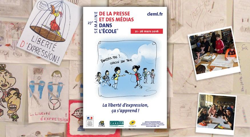 Affiche de la 27e SPME et dessins de presse