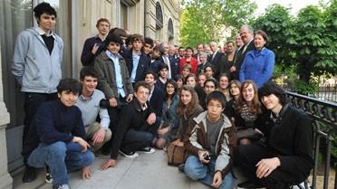 <strong>La délégation aux Invalides.</strong> © AEFE