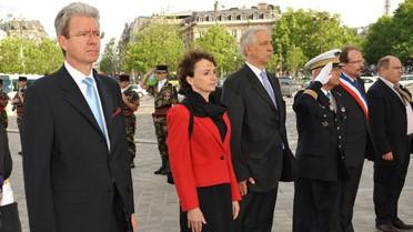 <strong>De gauche à droite : M. Mucetti, Mme Boccoz et M. de la
