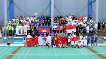3e championnats d'Asie-Pacifique de badminton : photo de groupe