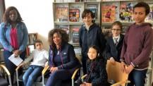 JO 2018 : Laura Flessel entourée des élèves du Lycée français de Séoul