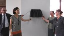Inauguration des nouveaux locaux du lycée français international Josué-Hoffet de Vientiane : geste inaugural