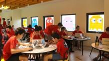 Nuit du code à Taipei : vue d'ensemble de la salle