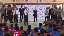 Visite présidentielle au lycée français de Lagos : allocution de M. Macron