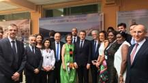 Visite présidentielle au lycée français de Lagos : photo de groupe