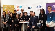 SemaineLFM : les JRI du lycée Charle-Lepierre de Lisbonne présents pour couvrir l'événement au Lycée international de l'Est parisien