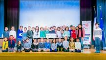 Tokyo 2020 : photo de groupe des écoliers du Lycée français international de Tokyo