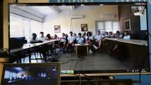 Concours #OuvertSurLeMonde : la classe réunie pour la visio
