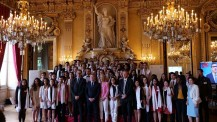 BEM 2019 : photo de groupe de la promotion 2014-2019 des boursiers Excellence-Major