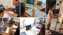 Continuité pédagogique : élèves en classe virtuelle