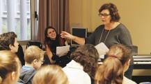 L'orchestre des lycées français du monde (saison 2) à Madrid : atelier avec les choristes de Marcoussis