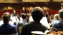 L'orchestre des lycées français du monde (saison 2) à Madrid : Alithéa Ripoll avec les musiciens